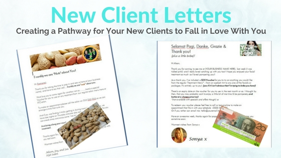 how to do birthday marketing new client letters