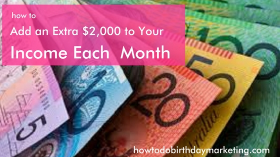 how to add an extra $2,000 to your income each month